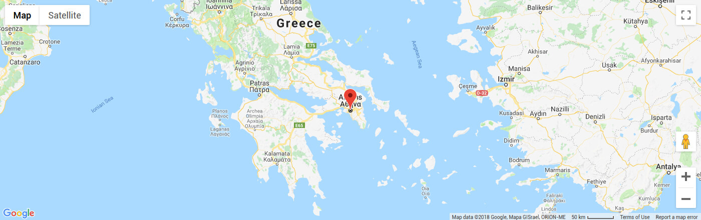 Ferry to Athens map