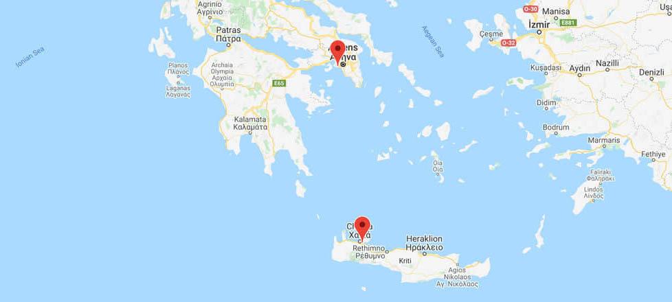 Athens to Crete (Chania): Ferry Routes