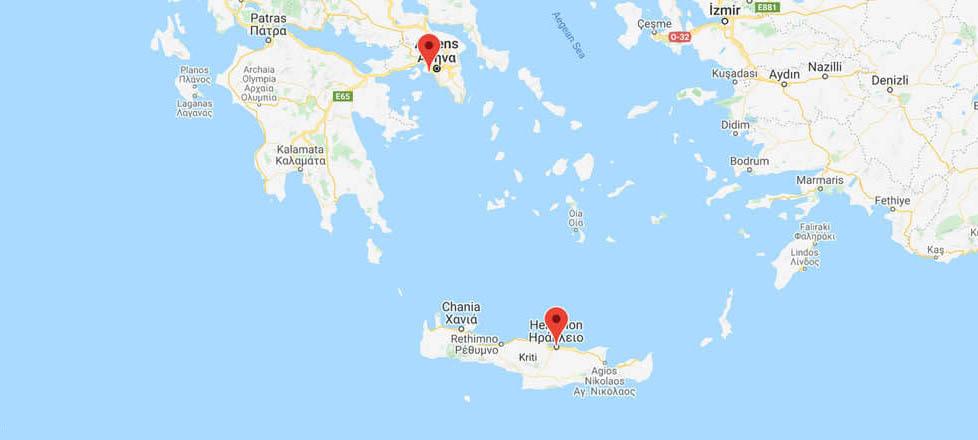 Athens to Crete (Heraklion): Ferry Routes