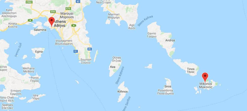Athens to Mykonos: Ferry Routes