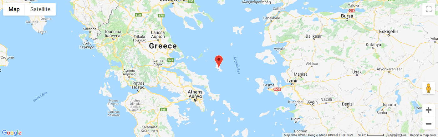 Ferry to Skyros map