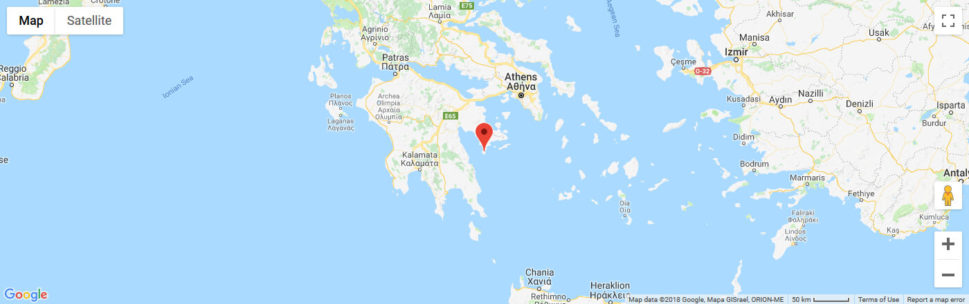 Ferry to Spetses map
